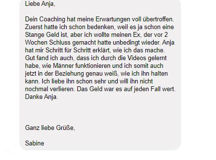 testimonial Sabine Coaching, 38 Jahre
